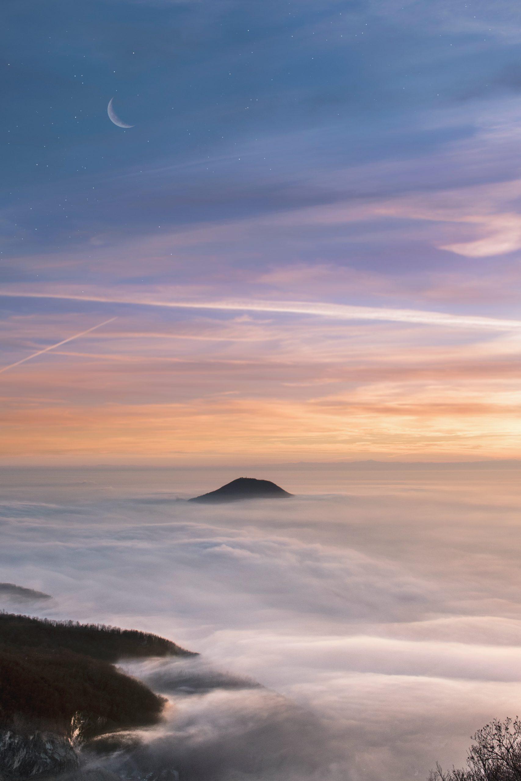 colline tramonto