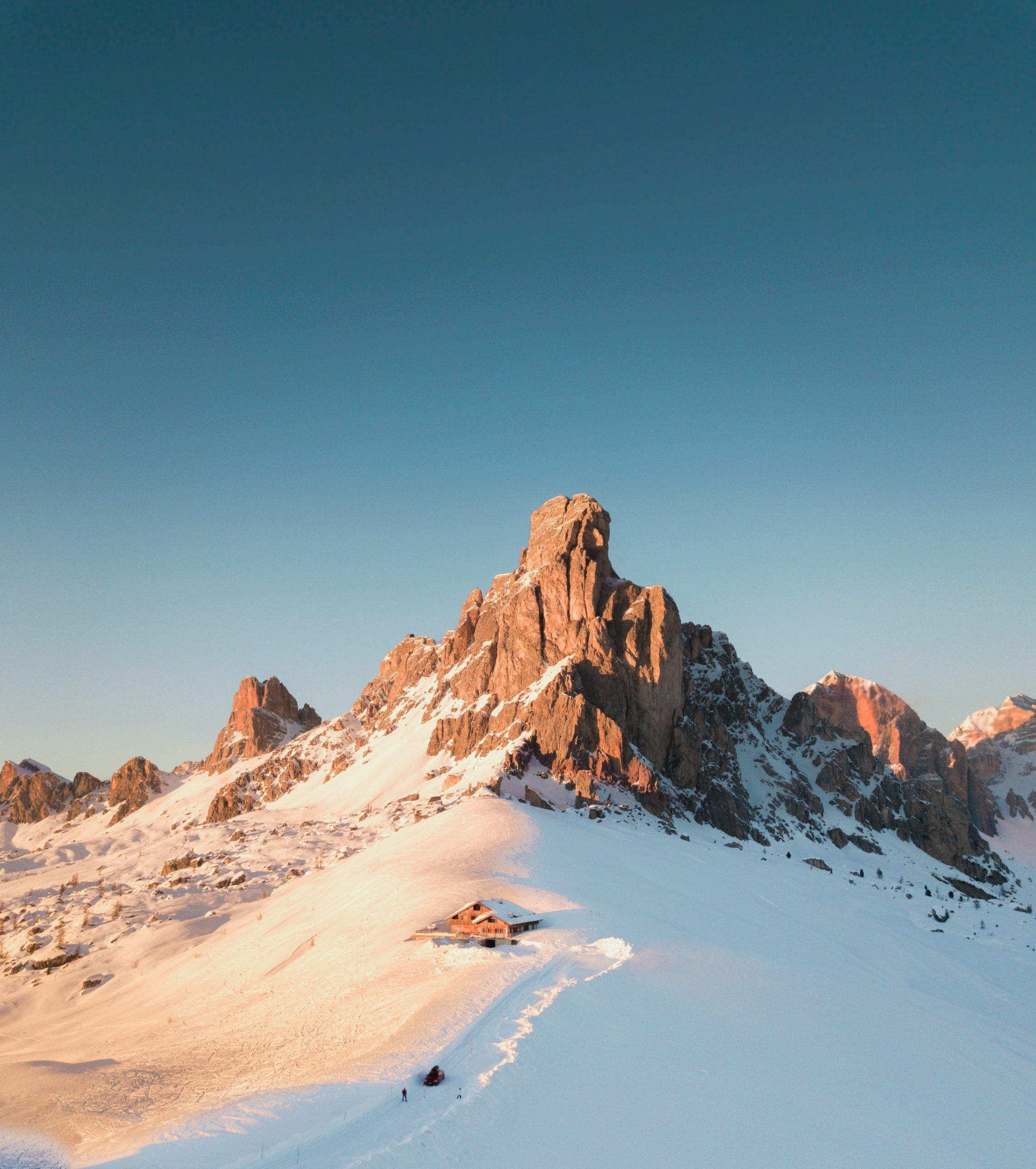 montagne in inverno